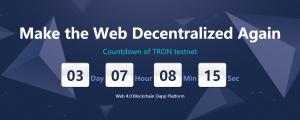 Tron TRX test net launch